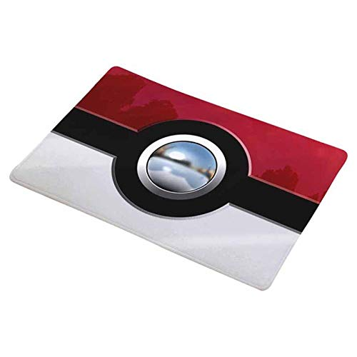 JFHGNJ Moderne Badematte Digitaldruck Footpad Pokemon Ball Flanell Bad Teppich Anti Slip Badezimmer Matten Wohnkultur Waschbar-Wie Gezeigt_50 cm x 80 cm