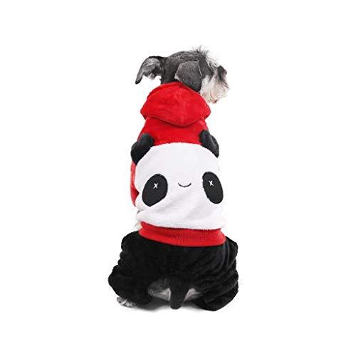 Ccgdgft Huisdier benodigdheden Huisdier Warm Jas Hond Kleding Geschikt voor Teddy Beer Poedel Lente En Zomer Hond Kat Hoodie Kleding, Rood + Wit + Zwart(XS-L) (Maat: L), XSmall
