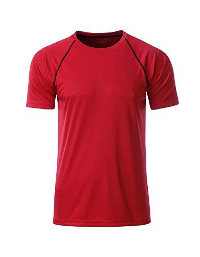 2Store24 Men's Sport T-Shirt in Red/Black Größe: XL