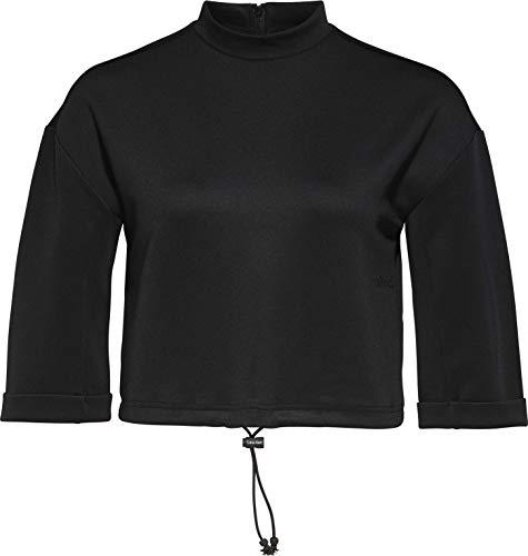 Calvin Klein Damen Short Cropped Sweater Pullover, Pvh Black, Small