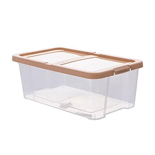 Schuhkartons Schrank Stapelbarer Kunststoff Aufbewahrungsbox mit Deckel - Behälter für die Organisation von Herren und Damenschuhen Booties Pumps Sandalen Wedges Wohnungen Fersen und Zubehör Einfach z