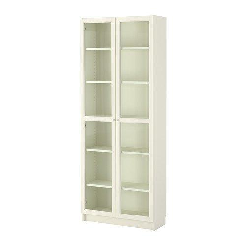 IKEA BILLY / OXBERG - Librero, blanco - 80x202x28 cm