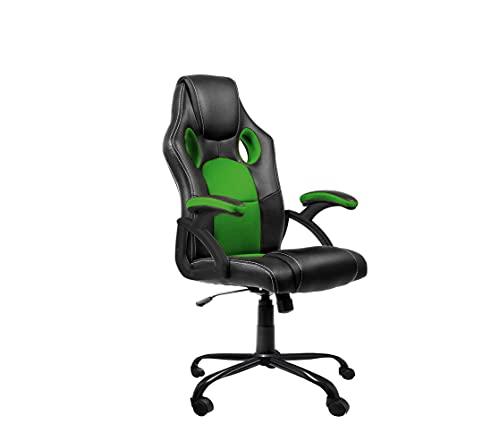 Dormidán- Silla Gaming, Escritorio, regulación en Altura, Racing SR-1 (Verde)