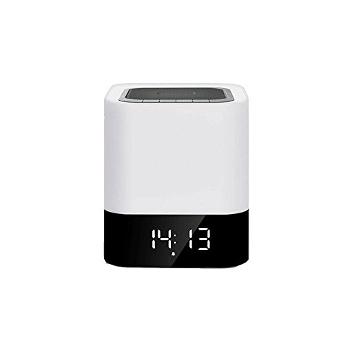 Veilleuse ZQ Smart Bluetooth Stéréo Haut-Parleur Mini Tactile LED Musique Bureau Lampe Chambre Chevet Lampe Creative Réveil Nuit Lumière