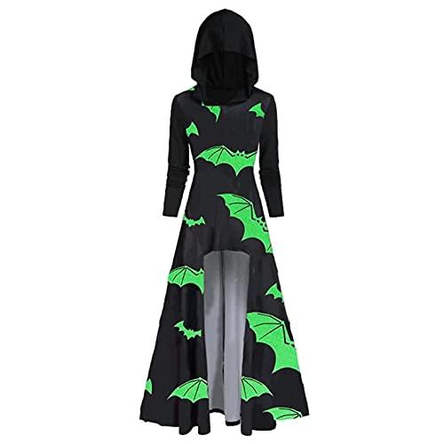 Gothic Jacke Kleidung Damen Vintage Kapuze Lang Robe Halloween Party Umhang Gothic Kap Fashion Hooded Jacke Ostern Karneval Vampir Cloak Cosplay Party Freizeit Cardigan Mäntel