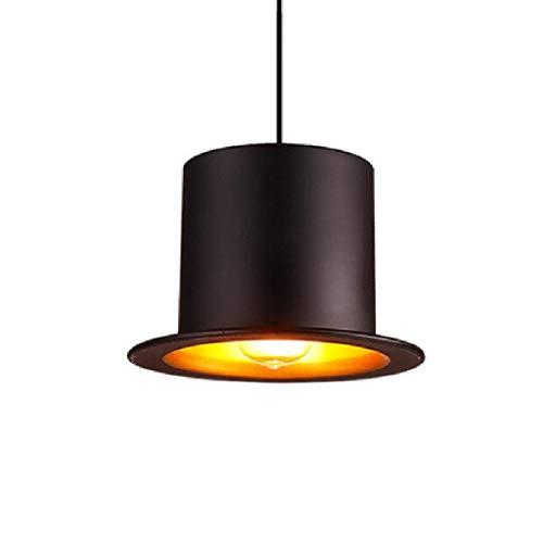 CHNOI Luz Pendiente Industrial, Luces de Techo de Granja, Negro Metal de la Vendimia Que cuelga del Accesorio de iluminación