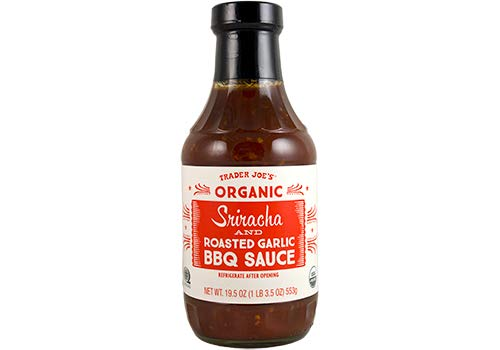 Trader Joes Organic Sriracha Roasted Garlic BBQ Sauce 19.5 oz (Pack of 2)