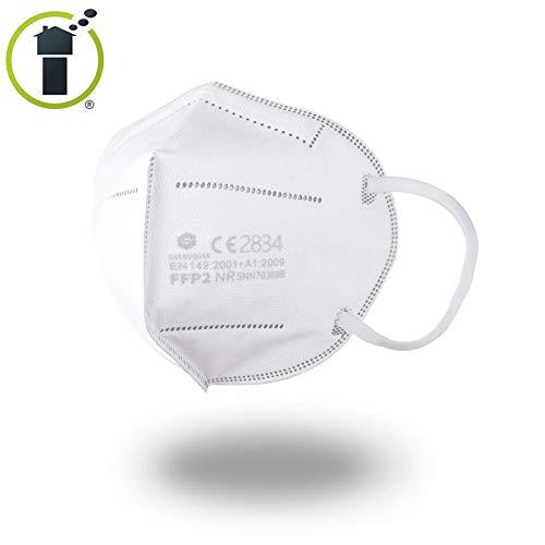 40 Stück - denkturm® FFP2 Maske, Atemschutzmaske, CE Zertifikat CE2834, geprüft EN149:2001+A1:2009 FFP2 NR - 2