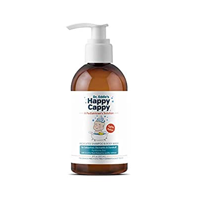 Dr. Eddie's Happy Cappy Medicated Shampoo for Children, Treats Dandruff and Seborrheic Dermatitis, Clinically Tested, Fragrance Free, Stops Flakes and Redness on Sensitive Scalps and Skin, 8 oz