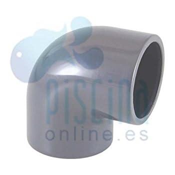 50/mm Plain 90/Grado PVC codo
