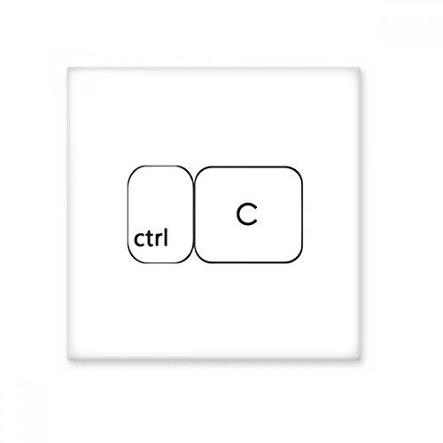 Símbolo de teclado Ctrl C cerámica crema decoración de azulejos baño cocina azulejos de pared azulejos de cerámica