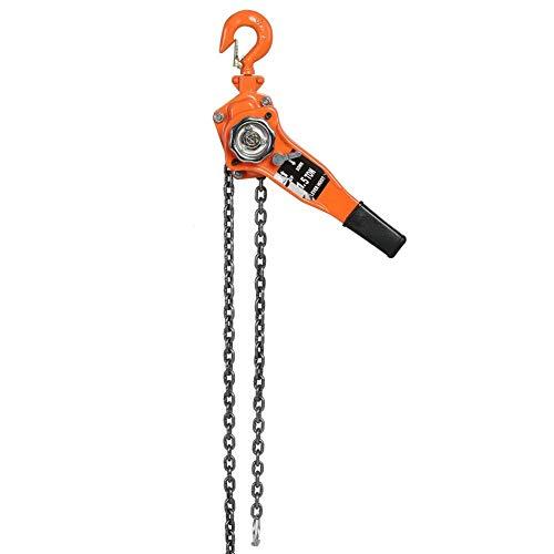 Qiilu Polea de cadenasmano cadena de elevación 3m Altura de elevación,1.5T
