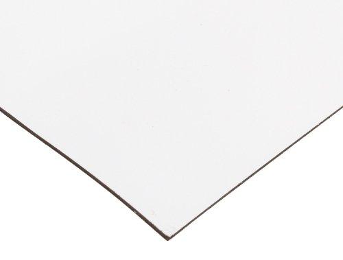 "Master Magnetics - B005HY9KDM Magnet Sheet, Magnetic Paper, 12"" Wide, 24"" Long, White Vinyl Back, 08505"