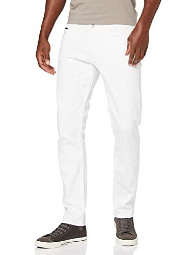Calvin Klein Jeans Straight Taper-White Wash Pantalones Informales, Lavado Blanco, 31W/32L para Hombre