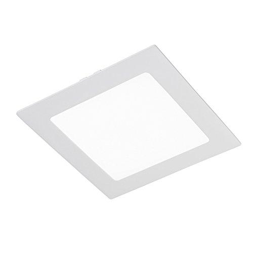 CristalRecord 02-107-18-400 - Spot downlight, LED extra-plat, carré, 20 W, lumière neutre, 4000° K, couleur blanche