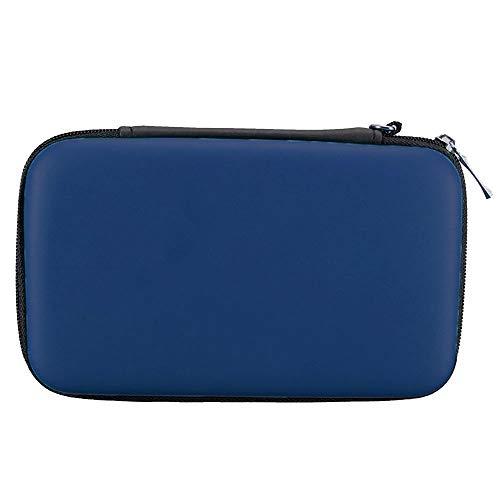 subtel® Tasche kompatibel mit Nintendo 3DS / 3DS XL/New 2DS XL/New 3DS XL Kunststoff Schutzhülle Tasche Flip Cover Case Etui dunkelblau