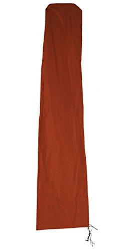 PEGANE Housse pour Parasol Coloris Terracotta en 100% Polyester, 240g / m² - Dim : H 280 x L 60-30 cm