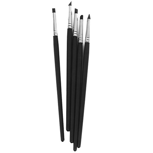 WINOMO Pennello in silicone Shaper set 5pcs Fimo argilla Sculpting colore Shapers Wipe Out strumenti flessibili