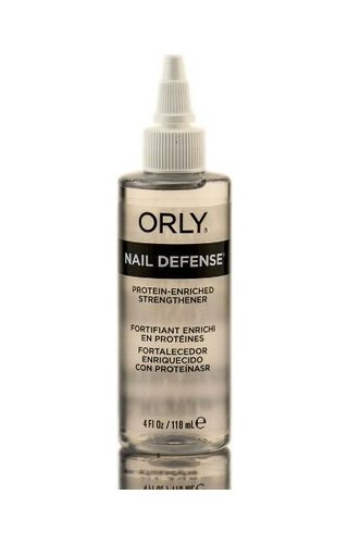 Orly Nail Defense Protein Enriched Strengthener Strengthener for Splitting and Peeling Nails 4 oz (118 ml)