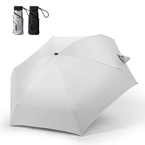 Festnight 6 Ribs Mini Travel Golf Umbrella Paraguas Plegable Ligero Paraguas de...