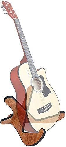 Soporte de guitarra Soporte de guitarra de madera universal espesante de madera contrachapada X-marco estilo soporte de instrumento de cadena portátil con bordes de cuero suave para guitarras de bajo