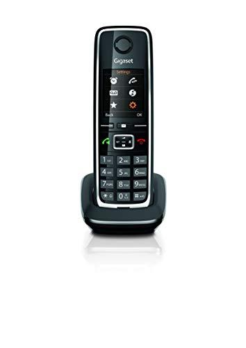 Gigaset C530HX - Teléfono (Teléfono DECT, Terminal inalámbrico, 150 entradas, Identificador de Llamadas, Negro, Plata)
