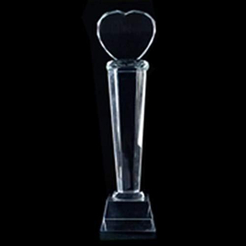 AosyGFR Trofeo Deportivo Competición Deportiva Trofeo Ping Pong Fútbol Correr Trofeo De Cristal Creativo (Puede Ser Letras)