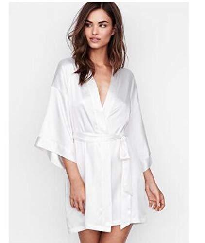 Verano champán novia boda bata satíevo mujer pijamas sexy camisón dama y...