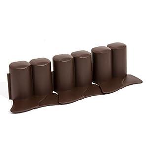 Zanvic Bordura para jardín ipal 6, Medida, 10 cm x 3,02 m, 8 Piezas x Caja, Chocolate, 302x3x10 cm, ZA500