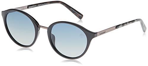 Timberland TB9157 Gafas de Sol, Negro (Shiny Black/Smoke Polarized), 52.0 Unisex Adulto