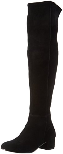 SPM Damen Bow Covered Overknee Kurzschaft Stiefel, Schwarz (Black), 39 EU