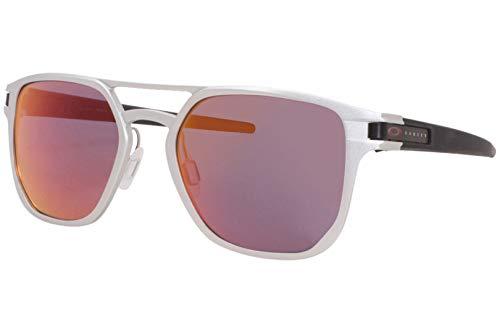 Oakley 0OO4128 Gafas de sol, Matte Silver, 53 para Hombre