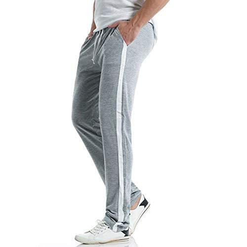 FIRMON-Jeans Herren 50er Jahre Hose Casual Slim Sport Lange Hose Outdoor Streifen Hose Baggy Hose Jogging Trainingsanzug Gr. 41-44.5, Graue 80er Hose