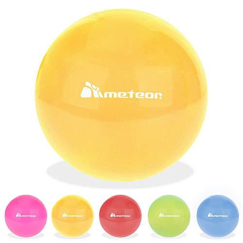meteor Pelota Goma 20 cm - para Niños y Adultos - Juegos y Hagan Ejercicios Deportes - Balón Hinchable Interiores y Exteriores (20 cm, Orange)
