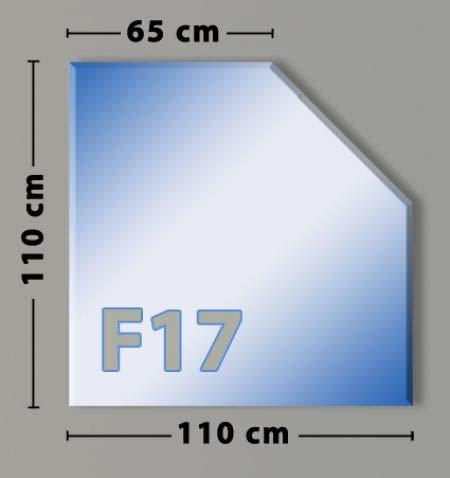 Fünfeck F17 Funkenschutzplatte - Glasplatte aus Sicherheitsglas