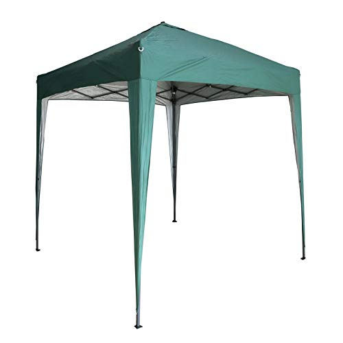 BIRCHTREE Gazebo Pop Up No Sidewalls Waterproof Marquee Canopy Outdoor Garden Wedding Party Tent 2Mx2M BT-PUG05 With Anchor Kits Green