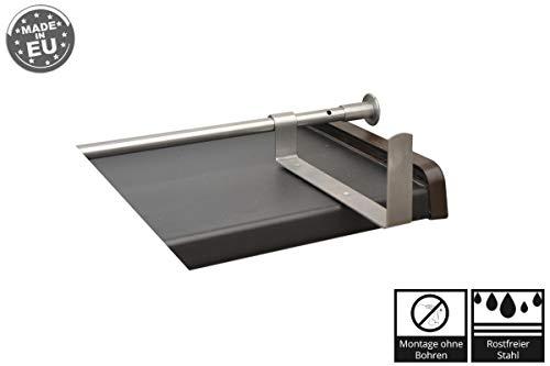 Kastenhalter für schmale Fensterbänke Rostfreier Ø 16 mm, 170/70, Stahl V2A