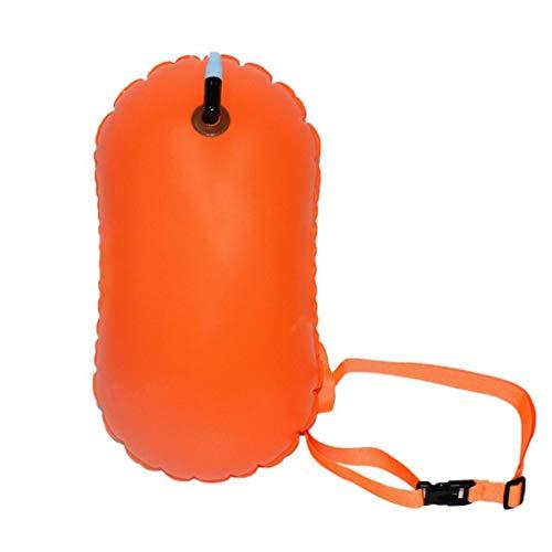 Natación Bolsa Inflable De PVC Resistente Al Agua Flotador Natación Remolque Flotador Nadar Boya De Seguridad De Flotación Naranja