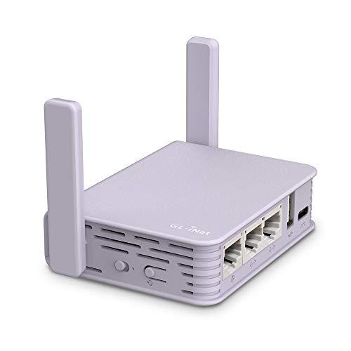 GL.iNet GL-MV1000W (Brume-W) Wireless Edge Computing Gigabit VPN Gateway, 2.4G Wi-Fi (External 5G AC Wi-Fi Dongle Supported), DDR4 1GB, Flash 16MB, EMMC 8GB, MicroSD Storage Support