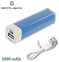 Mental Beats 2600mAh Portable Power Bank Universal Battery Charger ML-2600 Blue