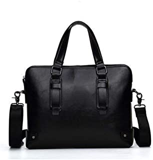 2020 Vintage Luxury Men Briefcases Shoulder Bag Messenger Bags Briefcase Male Casual Handbag YZ560-C (Color : Black, Size : -)