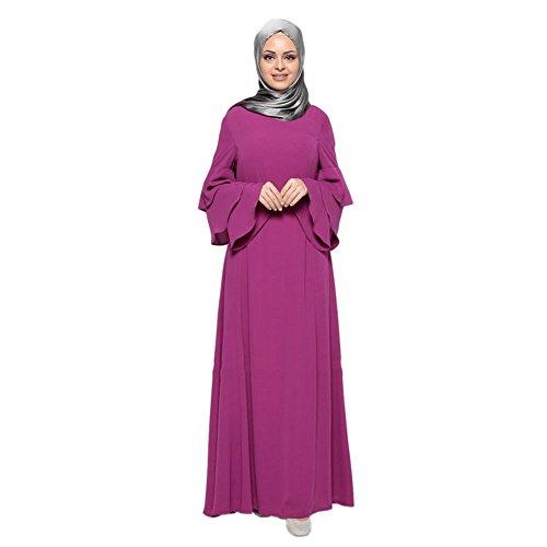 Deylaying Muslim Malaysia Frauen Lange Ärmel Kaftan islamisch Middle East Arab Turkey Bekleidung Maxi Kleid Abaya Dubai Hochzeit Cocktail Abendkleid Lose Robe