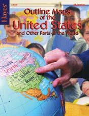 Hayes Outline Maps of The U.S.A.