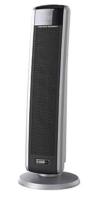 Lasko 5586 Digital Ceramic Tower Heater with Remote, Dark Grey