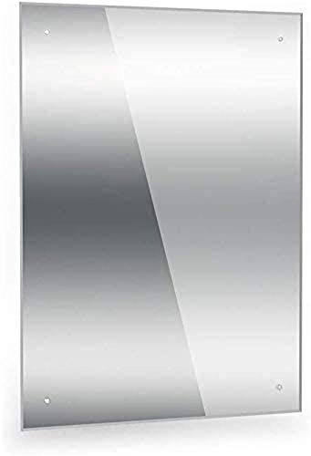 Dripex Miroir de Salle de Bain sans Cadre, Miroir Mural Rectangulaire avec Bord Poli, Miroir de Douche Miroir Maquillage - Idéal pour la Salle de Bain, Le Dressing, la Chambre et Le Salon (60 * 45cm)