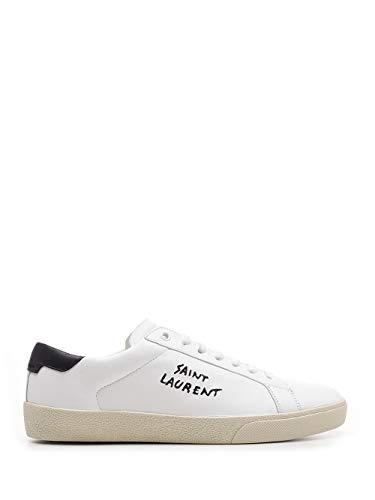 Saint Laurent Luxury Fashion Uomo 61068508G109061 Bianco Pelle Sneakers | Stagione Permanente