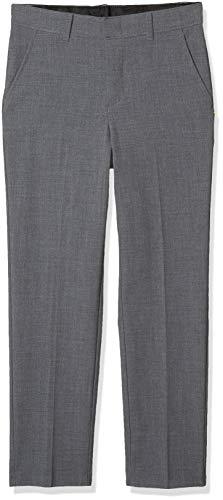 Van Heusen Boys Flex Stretch Flat Front Dress Pants, Oxford Grey, 12 Husky