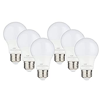 6 PACK  KOR 9W LED A19 Light Bulb  60W Equivalent  UL Listed 5000K  Bright White Daylight  800 Lumens Non-Dimmable LED 9-Watt Standard Replacement Bulbs With E26 Base 15000 Hours Long Life
