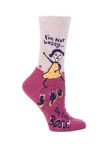 Blue Q Women's Novelty Crew Socks - I'm Not Bossy (Women's Size...