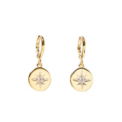 Heart Made of Gold Star Earrings for Women - Small Hoop Earrings - Dangle Earrings - Drop Earrings - Hoop Earrings - Huggie Earrings